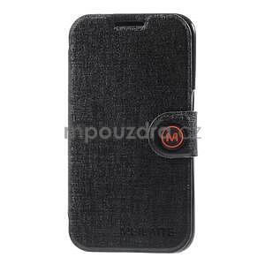 Zapínací peněženkové pouzdro na Samsung Galaxy Core Prime - černé - 4