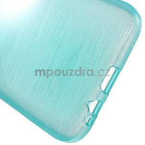 Broušené gélový kryt na Samsung Galaxy E5 - tyrkysový - 4