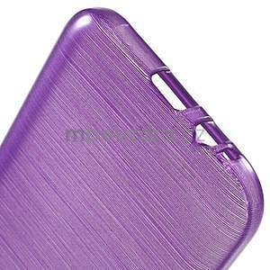Broušené gélový kryt na Samsung Galaxy E5 - fialový - 4