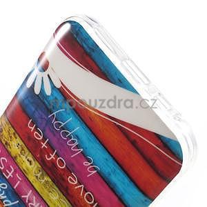 Gélový obal pre mobil Samsung Galaxy E5 - farebné desky - 4