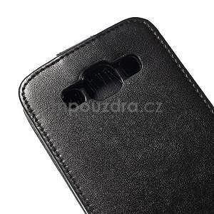Kožené flipové puzdro Samsung Galaxy E5 - čierné - 4