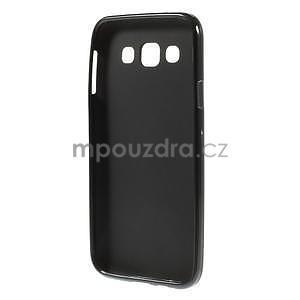 Matný gélový obal pre Samsung Galaxy E5 - čierny - 4