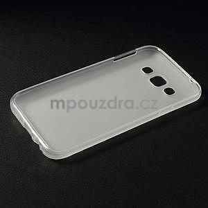 Matný gélový obal pre Samsung Galaxy E5 - biely - 4