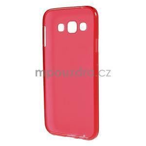 Matný gélový obal na Samsung Galaxy E5 - červený - 4