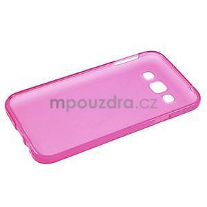 Matný gélový obal pre Samsung Galaxy E5 - rose - 4