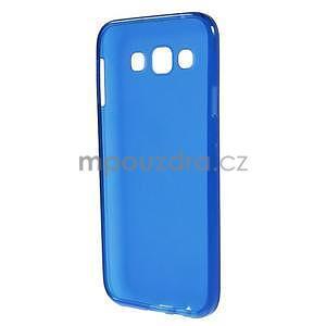 Matný gélový obal pre Samsung Galaxy E5 - modrý - 4