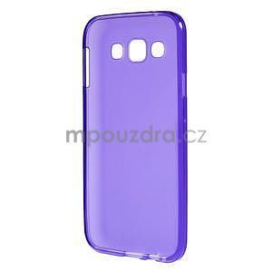 Matný gélový obal na Samsung Galaxy E5 - fialový - 4