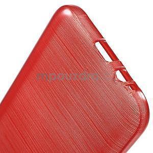 Broušené gélový kryt na Samsung Galaxy E5 - červený - 4