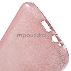 Broušené gélový kryt pre Samsung Galaxy E5 - ružový - 4