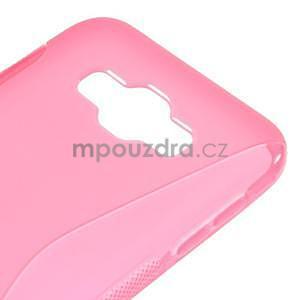 S-line gélový obal pre Samsung Galaxy E7 - rose - 4