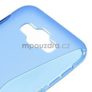 S-line gélový obal pre Samsung Galaxy E7 - modrý - 4