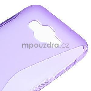 S-line gélový obal na Samsung Galaxy E7 - fialový - 4