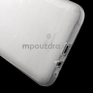Broušený gélový obal pre Samsung Galaxy E7 - biely - 4