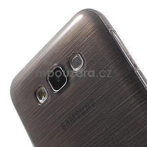 Broušený gélový obal pre Samsung Galaxy E7 - šedý - 4
