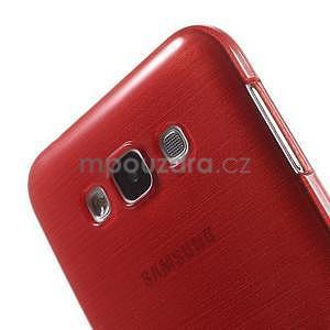 Brúsený gélový obal pre Samsung Galaxy E7 - červený - 4