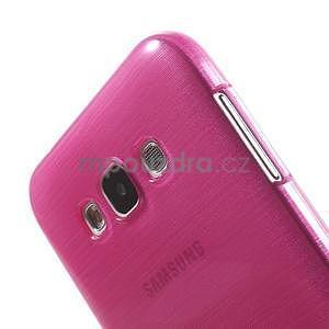 Broušený gélový obal pre Samsung Galaxy E7 - rose - 4