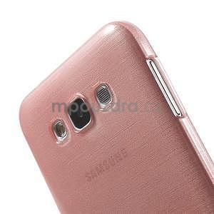 Brúsený gélový obal pre Samsung Galaxy E7 - ružový - 4