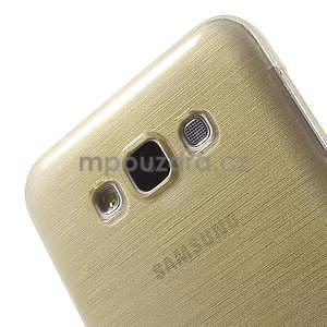 Broušený gélový obal pre Samsung Galaxy E7 - champagne - 4