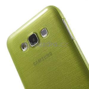 Broušený gélový obal pre Samsung Galaxy E7 - zelený - 4