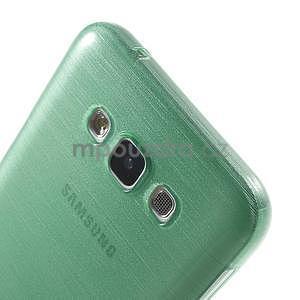Brúsený gélový obal pre Samsung Galaxy E7 - cyan - 4