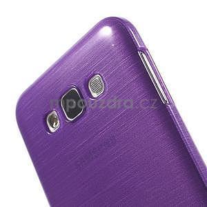 Brúsený gélový obal pre Samsung Galaxy E7 - fialový - 4