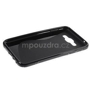 S-line gélový obal na Samsung Galaxy E7 - čierny - 4