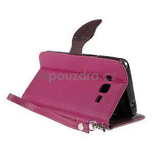 Rose/hnedé zapínací peňaženkové puzdro na Samsung Galaxy Grand Prime - 4