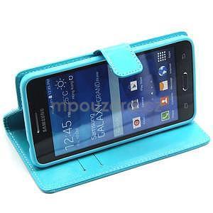Tyrkysové puzdro na Samsung Galaxy Grand Prime - 4