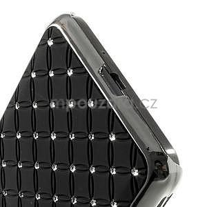 Čierny drahokamový kryt na Samsung Grand Prime - 4