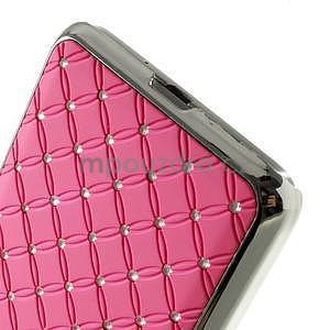 Ružový drahokamový kryt pre Samsung Grand Prime - 4