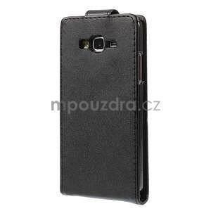 Čierné flipové puzdro pre Samsung Galaxy Grand Prime - 4