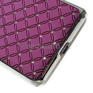Fialový drahokamový kryt pre Samsung Grand Prime - 4