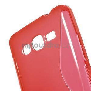 S-line gélový obal pre Samsung Galaxy Grand Prime - červený - 4