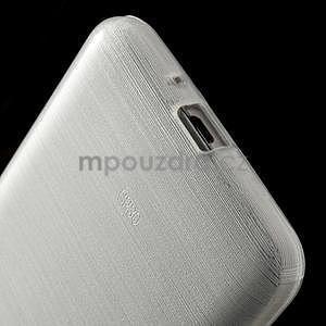 Broušený gélový obal pre Samsung Galaxy Grand Prime -  biely - 4