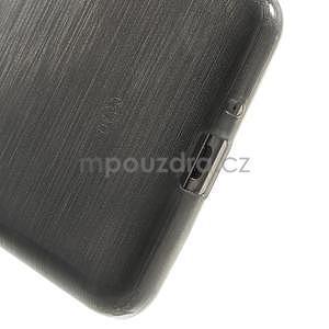 Broušený gélový obal pre Samsung Galaxy Grand Prime - šedý - 4