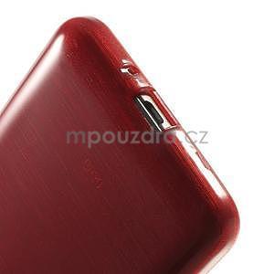 Broušený gélový obal pre Samsung Galaxy Grand Prime - červený - 4