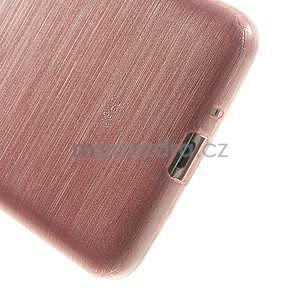 Brúsený gélový obal pre Samsung Galaxy Grand Prime - ružový - 4