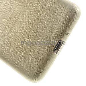 Broušený gélový obal pre Samsung Galaxy Grand Prime - zlatý - 4