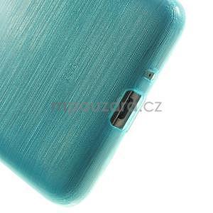 Brúsený gélový obal pre Samsung Galaxy Grand Prime - tyrkysový - 4