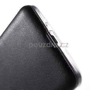 Ultratenký kožený kryt na Samsung Grand Prime - čierny - 4