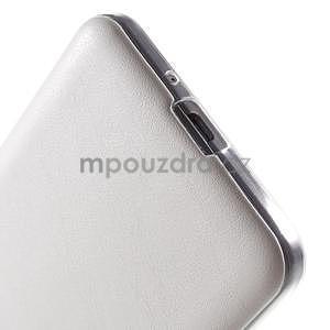 Ultratenký kožený kryt na Samsung Grand Prime - biely - 4