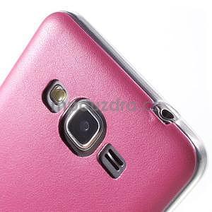 Ultratenký kožený kryt pre Samsung Grand Prime - rose - 4
