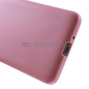 Tenký pogumovaný obal pre Samsung Galaxy Grand Prime - ružový - 4