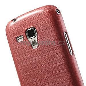 Brúsený gélový kryt pre Samsung Galaxy S Duos - ružový - 4
