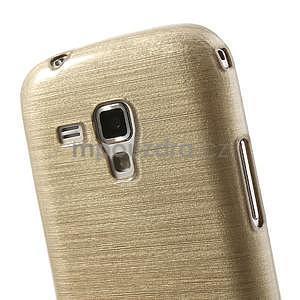 Broušený gélový kryt na Samsung Galaxy S Duos - zlatý - 4