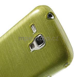 Broušený gélový kryt na Samsung Galaxy S Duos - zeleno žltý - 4