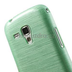 Broušený gélový kryt na Samsung Galaxy S Duos - zelený - 4