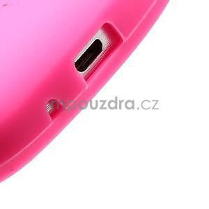 Silikonový obal tučniak pre Samsung Galaxy S Duos - rose - 4