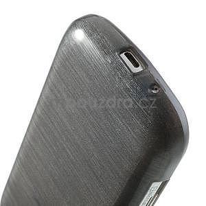 Broušený gélový kryt na Samsung Galaxy S Duos - šedý - 4