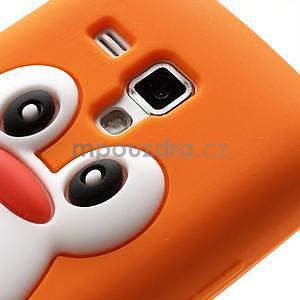 Silikonový obal tučňák na Samsung Galaxy S Duos - oranžový - 4